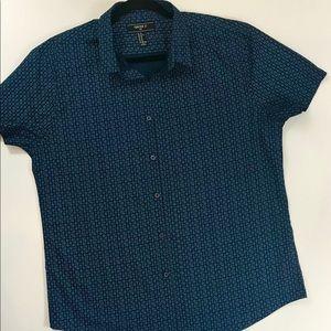 Forever 21 Men's Shirt Short Sleeve Button Down